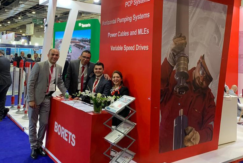 Borets at EGYPS 2020. The Borets team stands ready to greet customers and provide technical solutions for artificial lift and horizontal surface fluid transfer challenges.