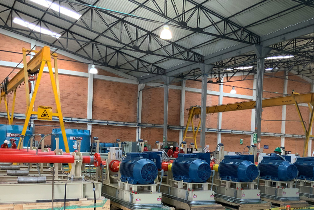Multiple HPS unit being prepared in Colombia.