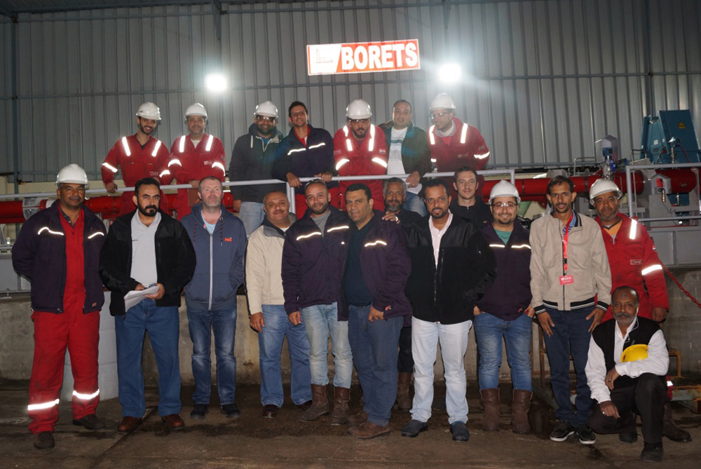 The Borets team at our facility in Alexandria, Egypt.