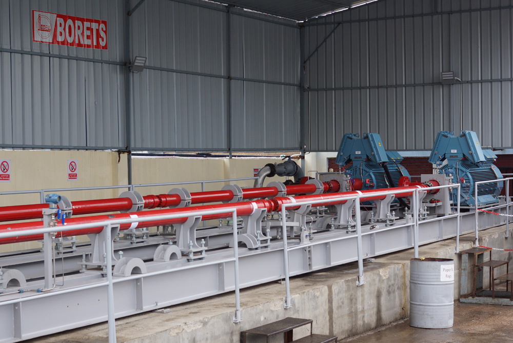 Horizontal pump system HPS testing at the Borets service center in Egypt.